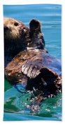 Waving Otter Beach Towel