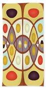 Wavy Geometric Abstract Beach Towel