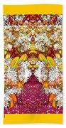Waxleaf Privet Blooms In Autumn Tones Abstract Beach Towel
