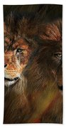 Way Of The Lion Beach Towel