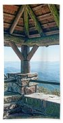 Wayah Bald Observation Tower - Macon County, North Carolina Beach Towel