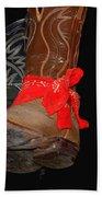 Waylon Jennings Boots Beach Towel