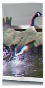 We Have Liftoff - Use Red-cyan 3d Glasses Beach Towel