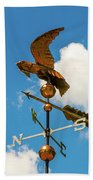 Weather Vane On Blue Sky Beach Towel by D K Wall