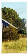 Weathered Barn In Fall Beach Towel
