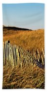 Weathered Dune Fence. Beach Towel