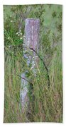 Weathered Fence Post Beach Towel
