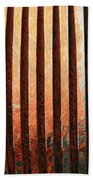 Weathered Metal With Rows Beach Towel