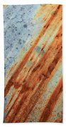 Weathered Metal With Stripes Beach Towel