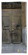 Weathered Old Door On A Building In Palermo Sicily Beach Towel