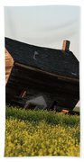 Weathered Old Farm House In Scenic Saskatchewan Beach Towel