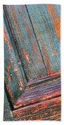 Weathered Orange And Turquoise Door Beach Towel