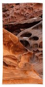 Weathered Sandstone Beach Towel by Leland D Howard
