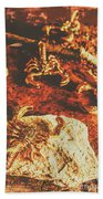Weathered Scorpion Art Beach Towel