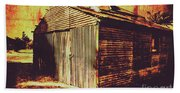 Weathered Vintage Rural Shed Beach Sheet