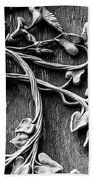 Weathered Wall Art In Black And White Beach Towel