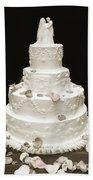Wedding Cake Petals Beach Sheet