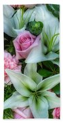 Wedding Flowers Beach Towel