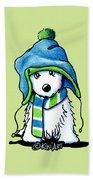 Wee Winter Westie Beach Sheet