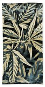 Weed Abstracts Four Beach Towel