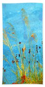 Weeds And Water Beach Towel
