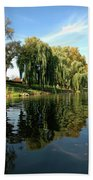Weepin Willows Frankenmuth Cass River Beach Towel
