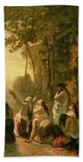 Weeping Of The Daughter Of Jephthah Beach Towel