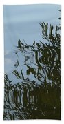 Weeping Willow Reflection Beach Towel