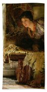Welcome Footsteps Beach Towel by Sir Lawrence Alma-Tadema