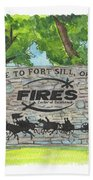 Welcome Sign Fort Sill Beach Towel by Betsy Hackett