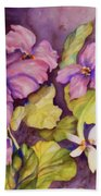Welcome Spring Violets Beach Towel