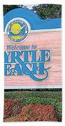 Welcome To Myrtle Beach Beach Towel