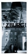 Welcome To Salzburg Beach Towel by Dave Bowman