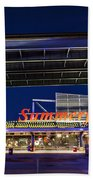 Welcome To The Fest Beach Towel by CJ Schmit
