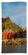 Welcome To Vernazza Beach Towel