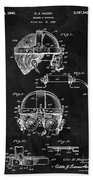 Welding Goggles Patent Beach Towel