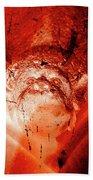 Wells Cathedral Gargoyles Color Negative D Beach Towel