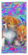 Welsh Corgi Pups Beach Towel