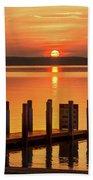 West Dnr Boat Launch July Sunrise Beach Towel