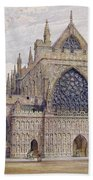 West Front, Exeter Cathedral Beach Towel