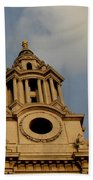 West Front Of St. Paul's Cathedral, London Beach Towel