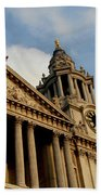West Front Of St.paul's Cathedral, London Beach Towel