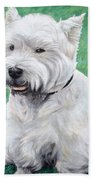 West Highland Terrier Beach Towel