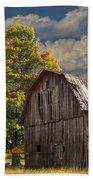 West Michigan Barn In Autumn Beach Towel