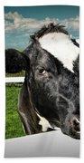 West Michigan Dairy Cow Beach Towel