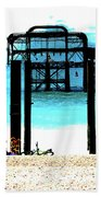 West Pier Graphic Beach Towel by Chris Lord