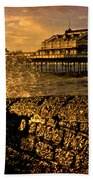 West Pier Splash Beach Towel