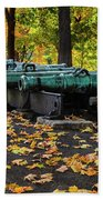 West Point Fall Leaves Beach Towel
