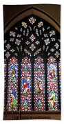 West Stained Glass Window Christ Church Cathedral 1 Beach Towel