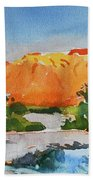 West Temple Zion Afternoon Beach Towel